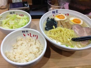 味玉らー麺 トッピング野菜 ライス.jpg